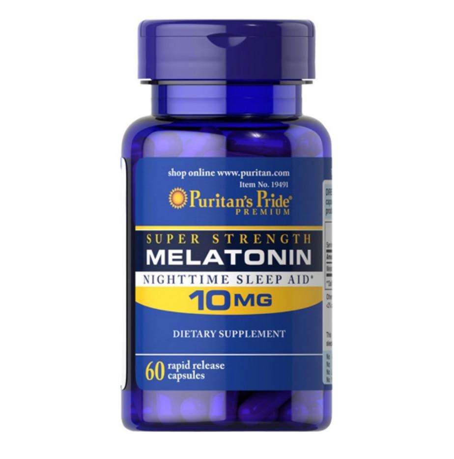 Melatonin Rapid Release 10 Mg*60pcs Help Promote Relaxation And Nighttime Sleep Aid