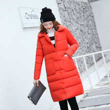 Winter clothing women's long wadded padded jacket women 2017 new version of the Korean version of the loose anti – season FREE