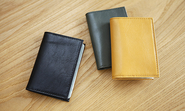 LAN Free Shipping mens leather name card case business card holder ultra thin card case