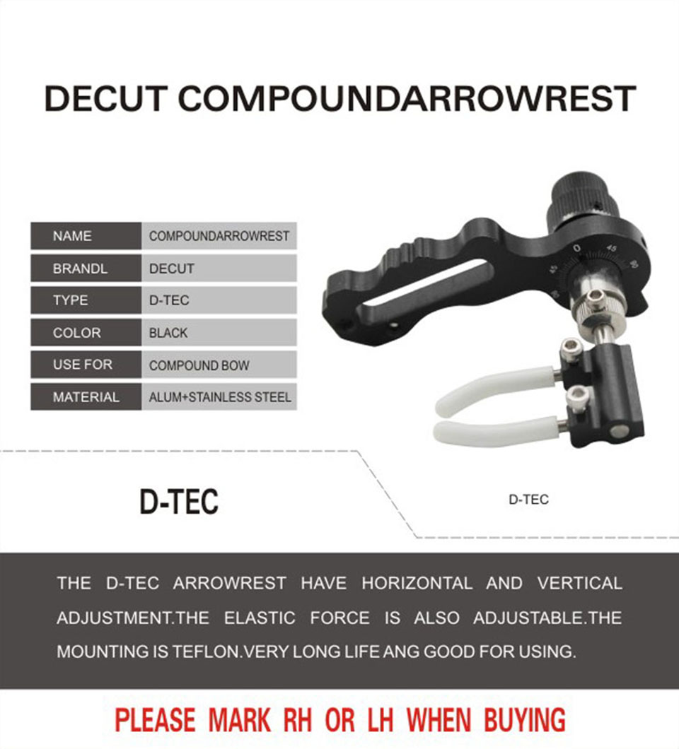 D Tec Decut D Tec High Quality Drop Away Arrow Rest Rh For Compound Bow Outdoor Hunting In Bow Arrow From Sports Entertainment On Aliexpress