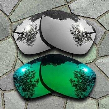 85443f1805 Cromo y Jade verde gafas de sol polarizadas lentes Oakley Jupiter al  cuadrado