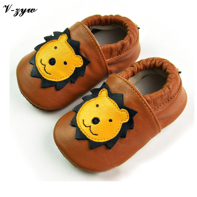 Spring Autumn Breathable Soft Leather Baby First Walkers Baby Boys Girls Infant Shoes Slippers Baby Walking Boots Shoes GZ026