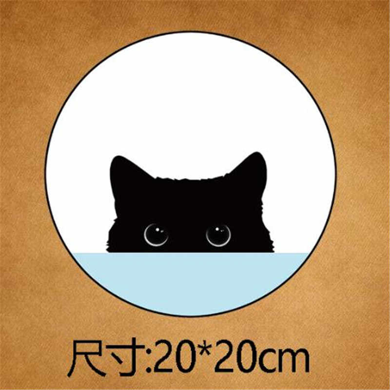 女性服 200 ミリメートル日本の漫画子猫鉄で転送印刷衣料用パッチ Tシャツバイカーパッチ熱 PVC ステッカー