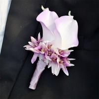 6 Color to Pick wedding boutonniere groom groomsman best man pin brooch corsage suit decor Calla flower accessories 8
