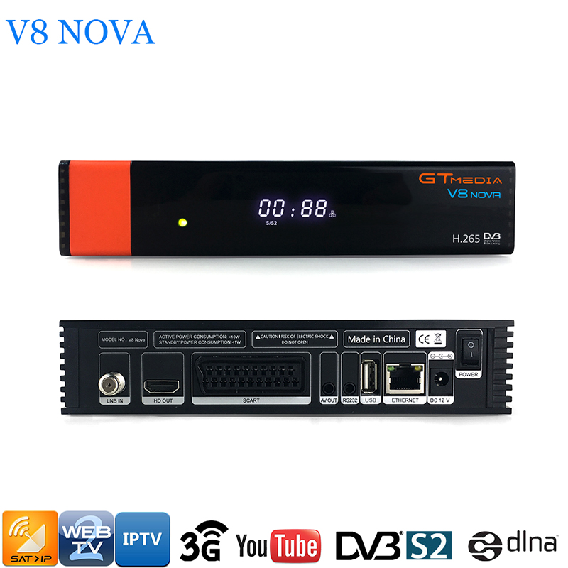 GTMEDIA V8 NOVA Satellite TV Receiver DVBS2 Support IPTV AVS+ H.265 Built-in WIFI TV BOX HD Digital TV Receiver