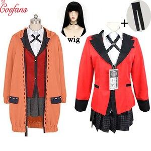 Image 1 - Kakegurui jogador compulsivo runa yomozuki kakegurui cosplay traje runa yomozuki casaco jabami yumeko cosplay traje e peruca
