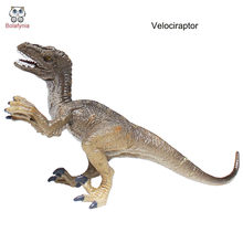 BOLAFYNIA Children Toy Velociraptor Dinosaur model baby kids toy for Christmas Birthday Gift(China)