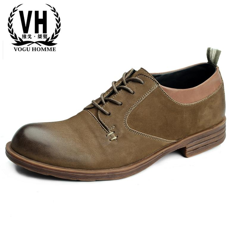 2018 British business casual shoes men Genuine Leather shoes British retro Bullock men's cowhide shoes spring autumn summer цена