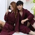De gama alta de las mujeres albornoz camisón de algodón ropa de dormir en casa amantes de espesamiento de lana toalla manta suave larga tallas grandes otoño invierno
