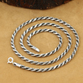 3 мм ожерелье ручной работы таиланд 925 серебряное ожерелье ручной старинные дизайнерские серебро 925 Neckace для подвески
