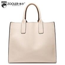 Luxury tote leathter bag ZOOLER 2017 genuine leather women shoulder bags handbag women bag solid capacity bolsa feminina #2909