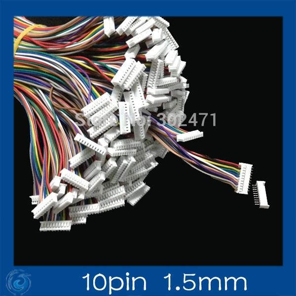Mini. Micro  1.5 T-1 10-Pin Connector W/.Wire X 10 Sets.10pin 1.5mm