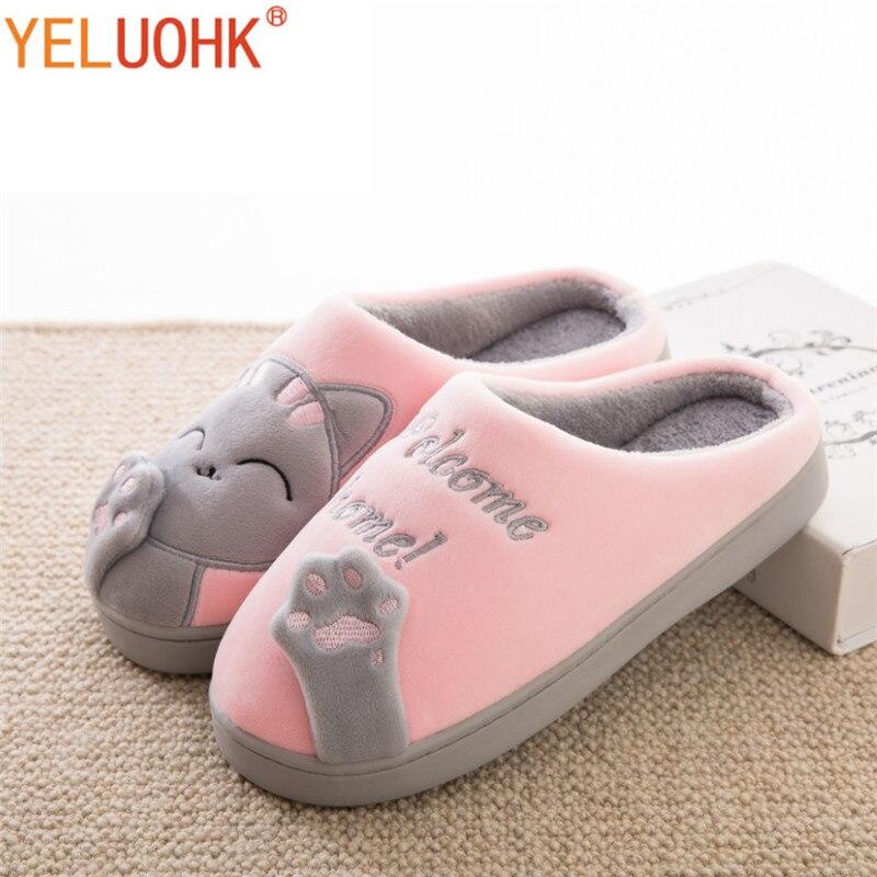 suche nach dem besten bieten eine große Auswahl an detaillierte Bilder US $9.16 45% OFF Hausschuhe Hause Schuhe Frauen Winter Zu Hause Hausschuhe  Frauen Warm Plüsch Hausschuhe Weibliche Tier Damen Hohe Qualität-in ...
