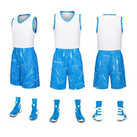 Mens Basketbal Jersey Set Sneldrogende Ademend College Sport Team Training Mouwloze Basketbal Jersey Sport Set Voor Jongens