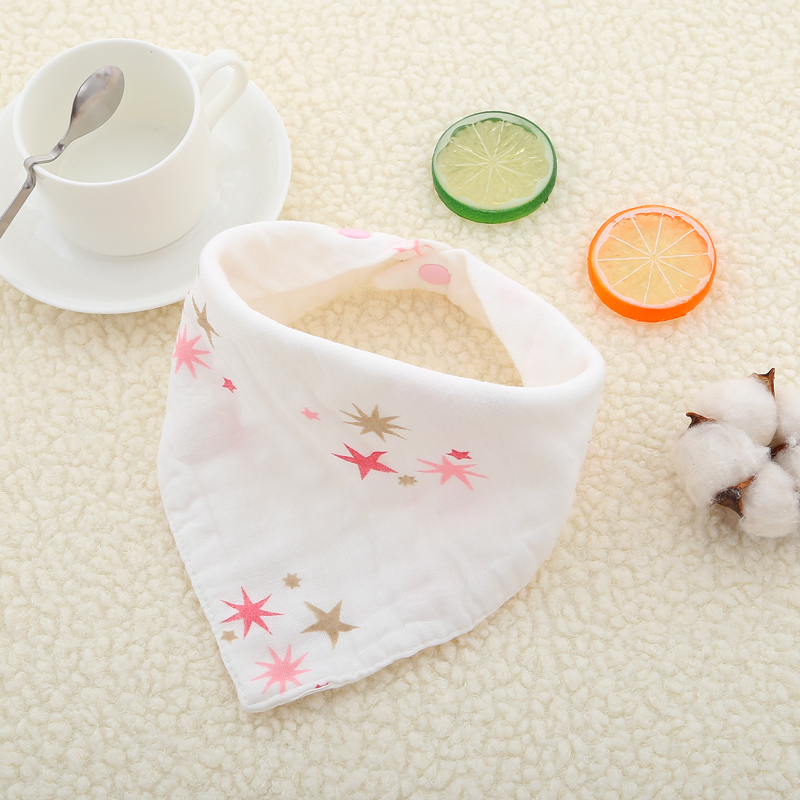 5pcs lot Cotton Muslin Baby babador bandana bibs for babies Scarf boys Girls baby bib burp Cloths Baby Bibs Scarf Feeding in Bibs Burp Cloths from Mother Kids