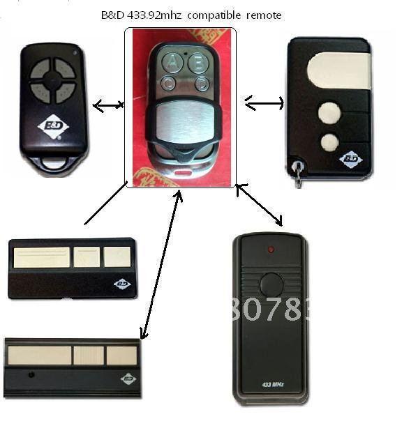 100% compatible B&D / CHAMBERLAIN /easylift Garage Roller Door Remote Control Opener