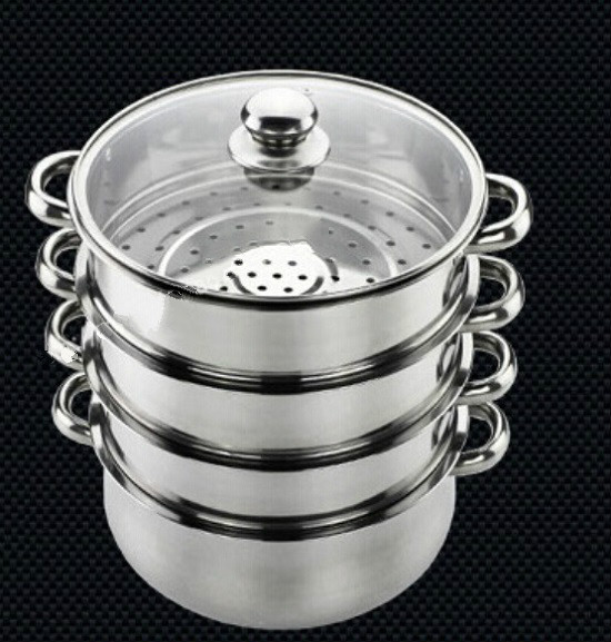 Cookware Steamers Cooking Tool Stainless Steel Steaming Pot 30cm 4layers Casserole Bouble Boils