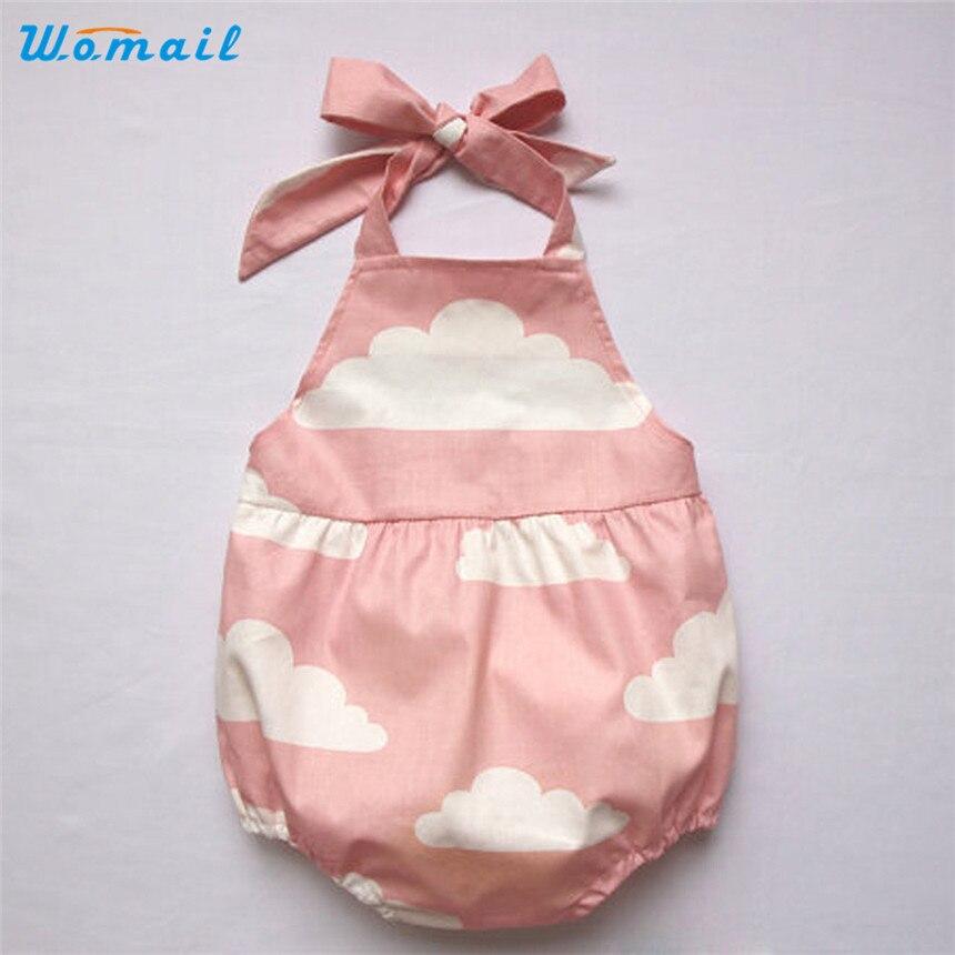 womail dei bambini di un pezzo costumi da bagno neonato neonate senza maniche nuvole stampa pagliaccetto