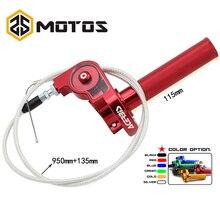 ZS MOTOS 22mm CNC Aluminum Acerbs Throttle Grip Quick Twister + Cable CRF50 70 110 IRBIS 125 250 Dirt Bike Motorcycle