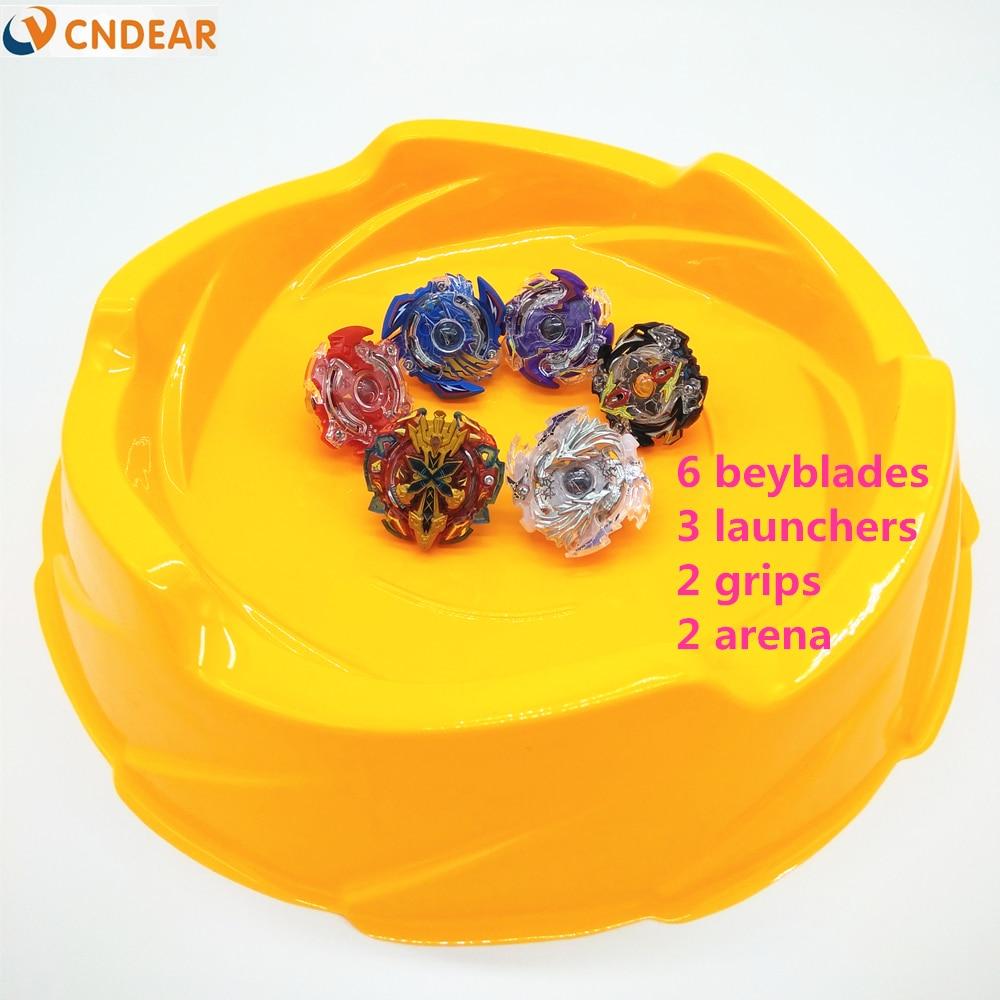 Beyblade arena stadium Beyblade Burst With Launcher Starter Xeno Excalibur.M.I Starter Zillion Zeus I.W Beyblade Toys yellow игрушка ecx circuit stadium truck ecx03030t2