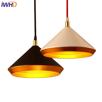 IWHD Iron Hanglamp Style Loft Industrial Pendant Lamp Retro Black White Vintage Lamp Kitchen Dining Home Lighting Fixtures|light fixtures|industrial pendant lamp|pendant lamp - title=