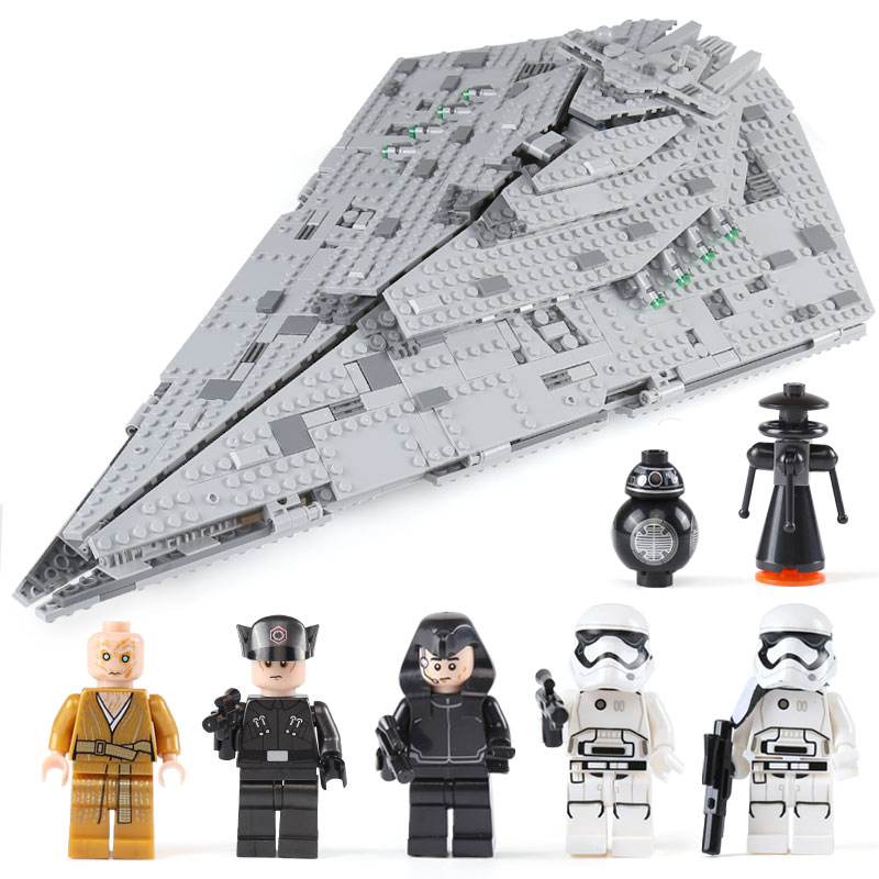 Bela 10901 First Order Star Destroyer Model Building Block Bricks Toys Compatible with Legoings Star Wars 75190 bela 10464 star wars death star final duel bricks building block compatible with lepin