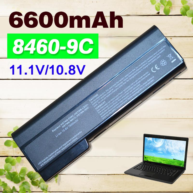 9 cells Laptop Battery for HP EliteBook 8460p 6560b 631243-001 659083-001 CC06 CC06X CC06XL CC09 HSTNN-CB2F HSTNN-DB2H