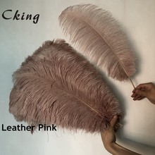 50pcs Natural Leather Pink Dyed feathers ostrich plumes DIY large ostrich feathers party Wedding feathers for crafts Decorations