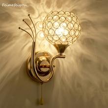 Круглый настенный светильник, светодиодный, хрустальные лампы и фонари, современные и суженные лестницы, креативный светильник для гостиной, спальни