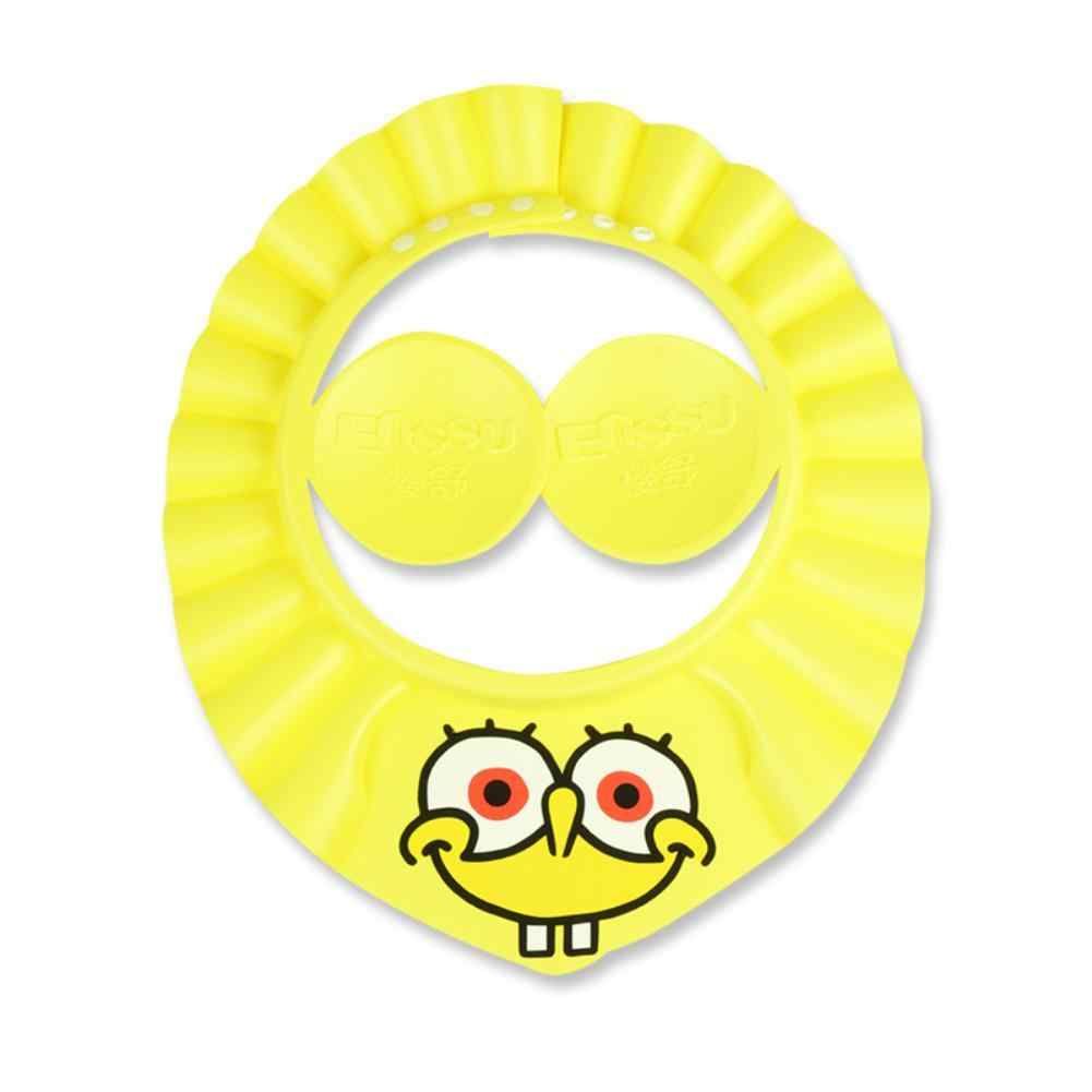 Enssu marki dla dzieci dla dzieci bezpieczne szampon prysznic czepek kąpielowy regulowany elastyczny miękki kapelusz SpongeBob kanciastoporty kąpieli prysznic Cap