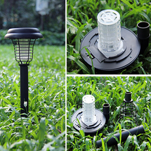 Solar Powered LED Mosquito Repeller Outdoor UV Light Garden Yard Lawn Anti Insect Pest Bug Zapper Killer Trapping Lamp Lantern