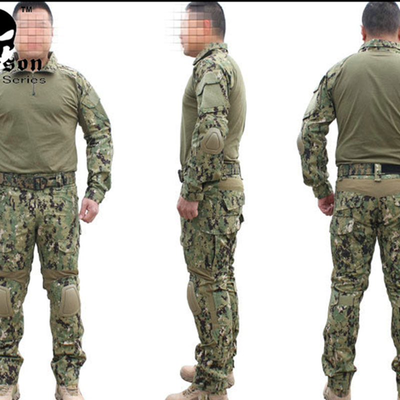 Gen2 Taktische Anzug Combat shirt Hosen mit Knie Pads Jagd Airsoft Paitball Uniform AOR2 EM6924 Jagd Party-in Party-DIY-Dekorationen aus Heim und Garten bei  Gruppe 1