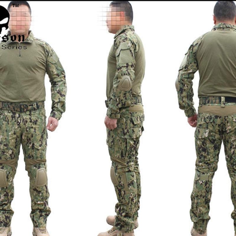Gen2 traje táctico combate pantalones de camisa con la rodilla almohadillas caza Airsoft paintball uniforme AOR2 EM6924 fiesta de caza-in Decoraciones DIY de fiestas from Hogar y Mascotas    1