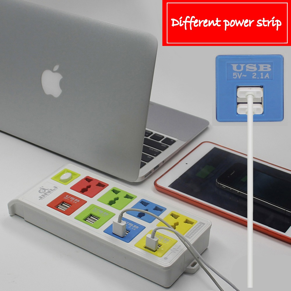 Plaque de Conversion de prise universelle insert 8 multiprise usb avec type EU UK US