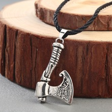 CHENGXUN Slavic Axe Pendant Amulet Symbol Perun Viking Axe Men Cool Weapon Ancient Jewelry for Brother's Gift