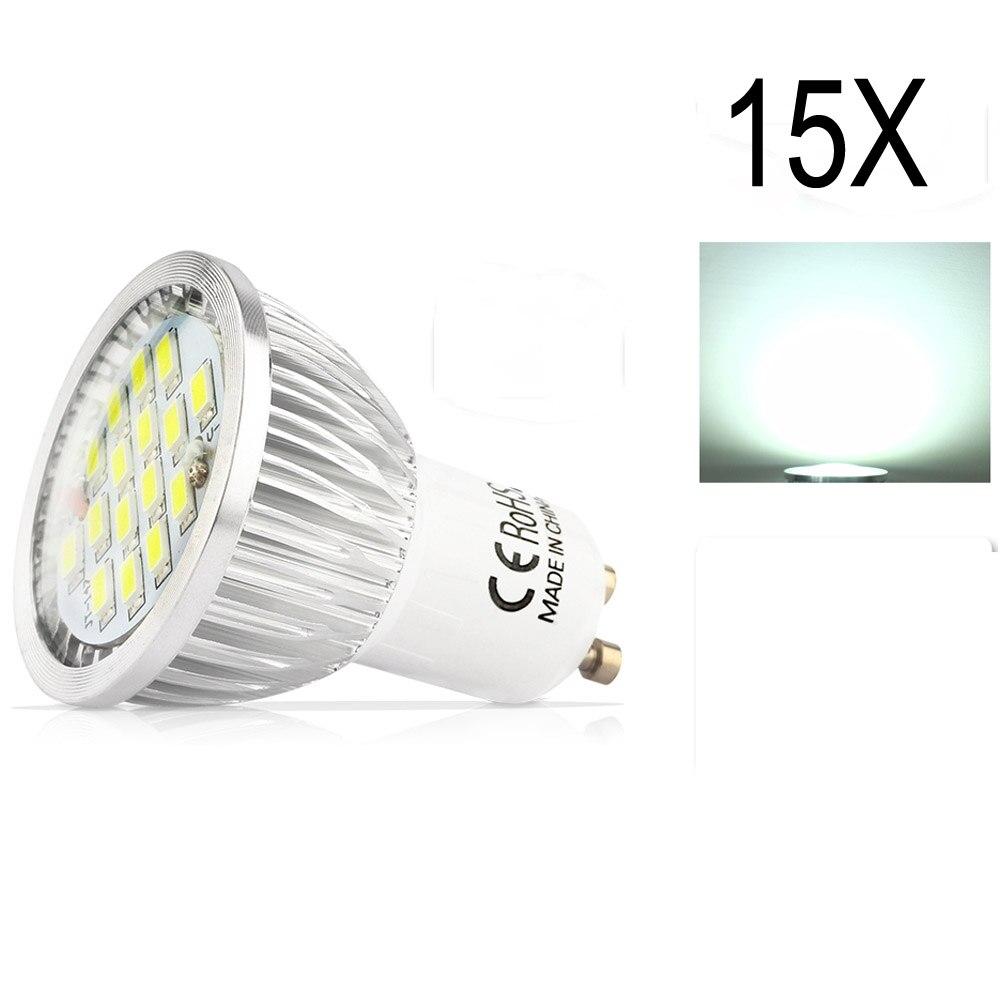 15X GU10 5.5W SMD 5730 High Quality Assurance LED Led Spotlight bulbs Warm White Cold White AC85-265VLED Spot Aluminum lamp cup three phase bridge dfa150aa160 dfa200aa160 original spot quality assurance