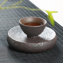 цена на Vintage Rust Glaze Tea Cup Japanese Style Ceramic Tea Mug Hand Made Kung Fu Tea Sets Household Heat Resistance Tea Service