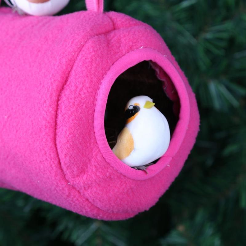 Home & Garden Bird Supplies Pet Parrot Hanging Cage Hut Tent For Triangle Mesh Bird Hammock Nest Bed House Toy #325