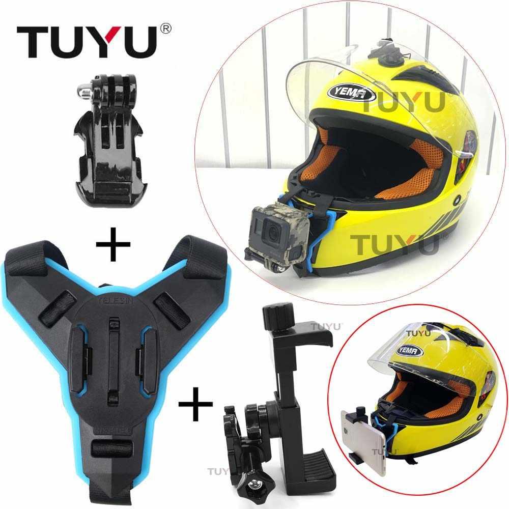 Tuyu Motorcycle Helmet Chin Bracket For Gopro All Camera Motorcycle Helmet Chin Mount Adapter For Gopro Hero 8 7 6 5 Sjcam Yi