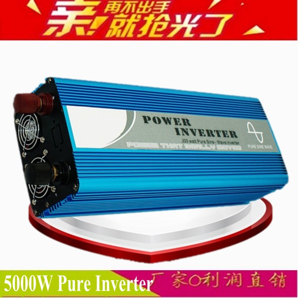 цена на 5000W Full Power off grid inverter 12v 220v DC to AC Converter True Pure Sine Wave Solar Power Inverter home supply car inverter