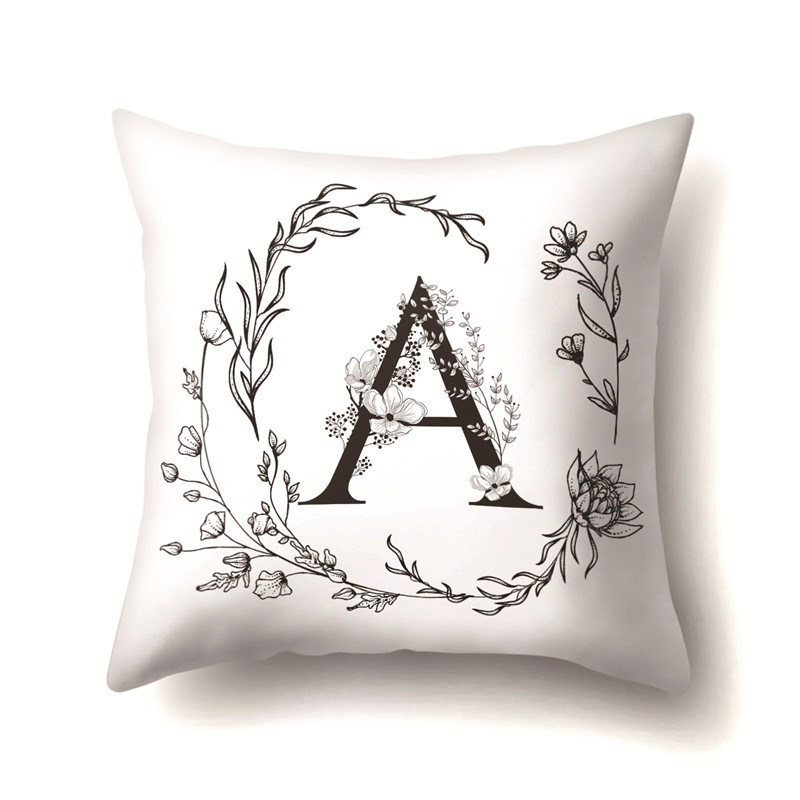 ><font><b>Nordic</b></font> <font><b>Style</b></font> <font><b>Letter</b></font> Wreath Kussenhoes Sofa Seat Car Seat Farmhouse Pillows Gift Pillow Case Home Office Furniture Decor