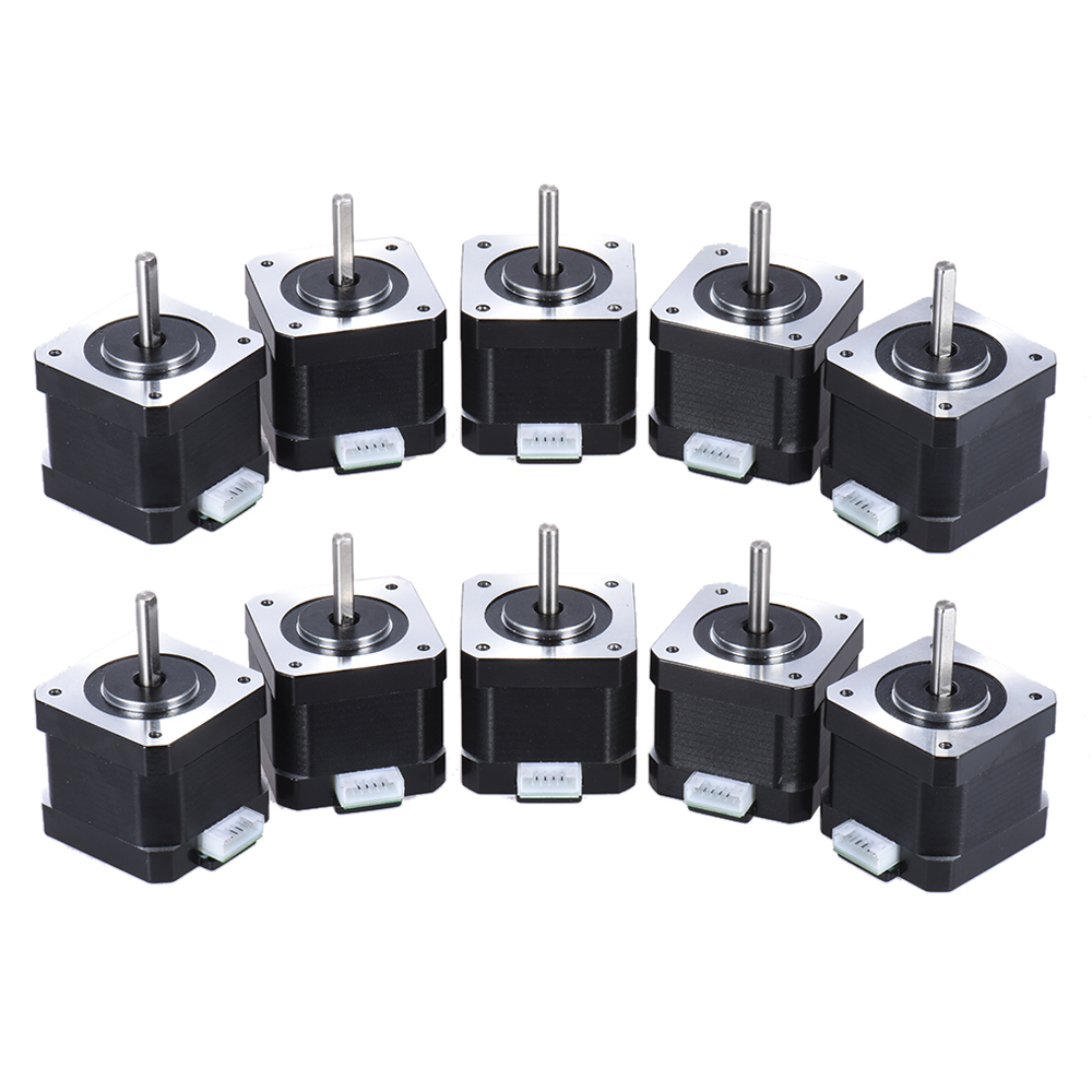 10pcs Nema 17 Stepper Stepping Motor Drive Control 2 Phase 1.8 Degree 0.9A  with Lead Cable 3D Printer/CNC Accessory Replacement