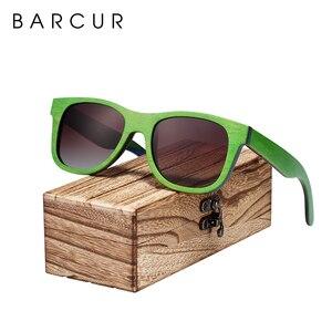 Image 4 - BARCUR סקייטבורד עץ משקפי שמש משקפיים מקוטב לגברים/WomenWood משקפי שמש סקייטבורד אמיתי משקפי שמש עם תיבת משלוח