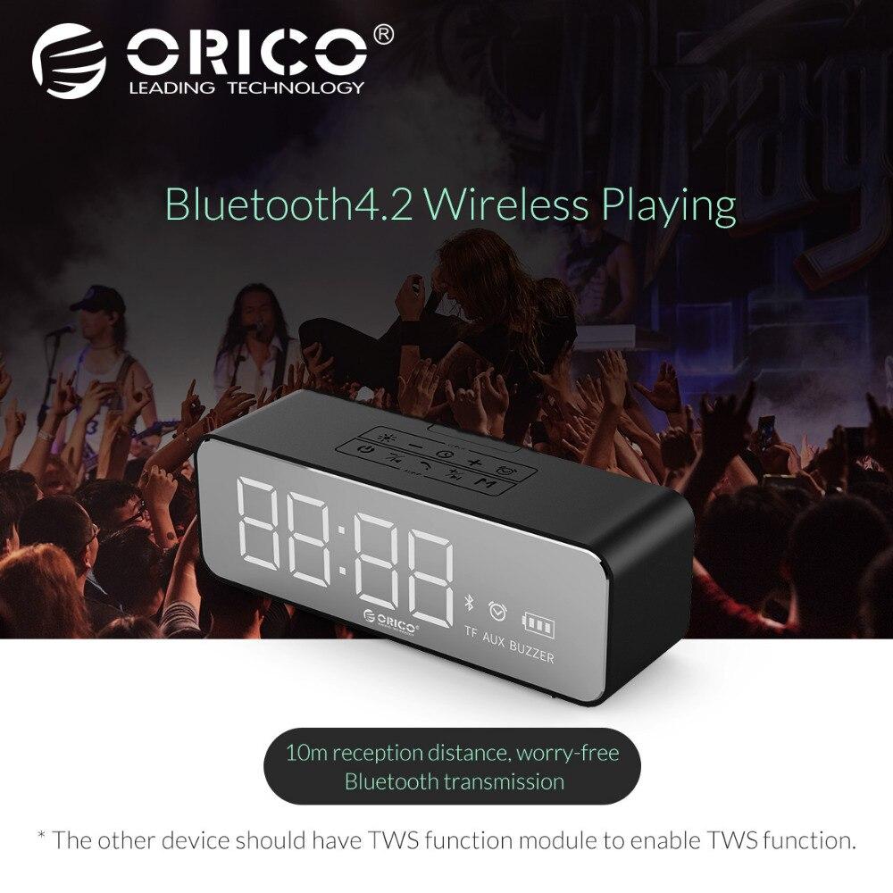 ORICO Новый Bluetooth динамик Портативный беспроводной стерео звук Бумбокс водостойкий bluetooth с будильником для наружного, TF AUX