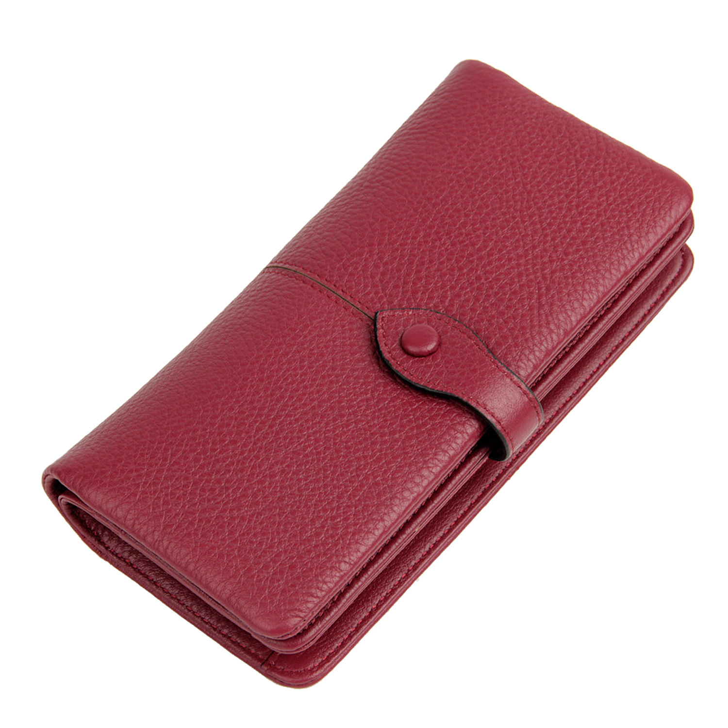 Women Genuine Leather Purse Long Korean Cowhide Wallet Ladies Pull Large Capacity Multifunctional Card Holder Clutch Phone Bags contact s genuine leather women wallet large capacity long purse card holder fashion brand real cowhide clutch money bag wallet