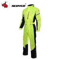SCOYCO мотоциклетная мужская куртка с капюшоном плащ для езды отражатель мотоциклетный дождевой Костюм мото Водонепроницаемая соединенная к