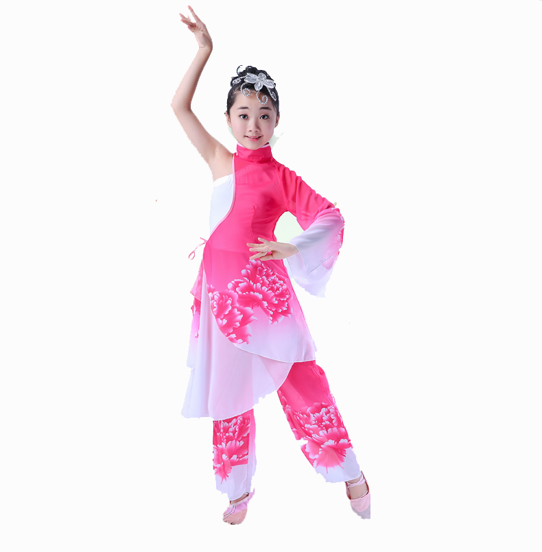 chinese folk dance clothing female classical Yangko dance costume fan dance clothes