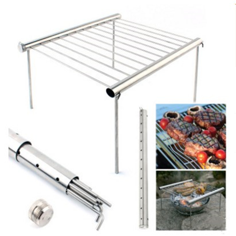 Barbecue Grilling Tool Mini Stainless Steel Grill Outdoor Stainless Steel Grill Bracket