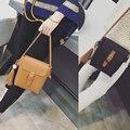 Women PU leather shoulder messenger bags solid color bucket tassel bag female hasp crossbody pack fashion style black HB0096