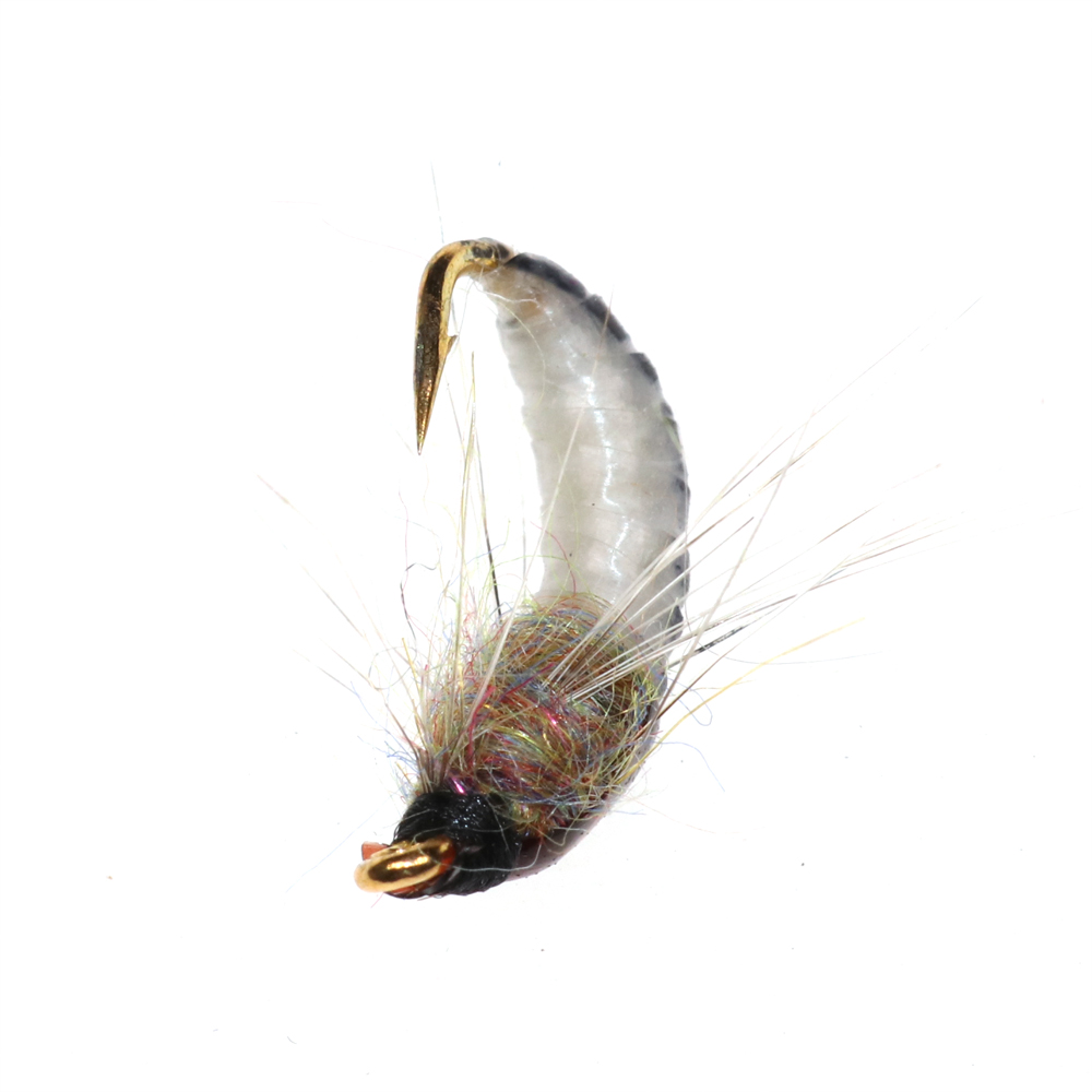 Bimoo 6PCS #12 Realistic Nymph Scud Fly for Trout Fishing Nymphing Artificial Insect Bait Lure 14